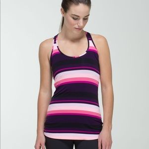 Lululemon Cool Racerback Striped Bleached Coral 4